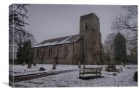 Dunkirk Church In Winter, Canvas Print