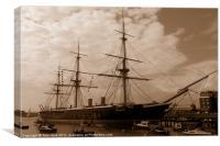 HMS Warrior, Canvas Print