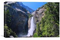 Lower Fall of Yosemite, Canvas Print