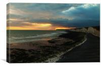 Stormy Sunset, Canvas Print