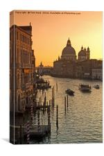 Morning Traffic in Venice, Canvas Print