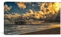Spotlight on the Pier, Canvas Print