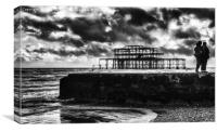 The Charred Pier, Canvas Print