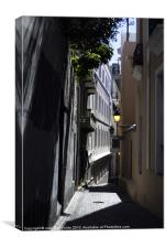 Narrow Spaces in Old San Juan, Canvas Print