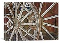 Weathered Wagon Wheels, Canvas Print