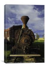 Old Prairie Train, Canvas Print