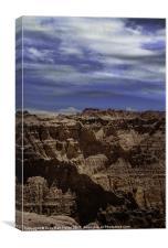 Across the Badlands, Canvas Print