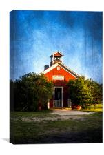 Little Red Schoolhouse, Canvas Print