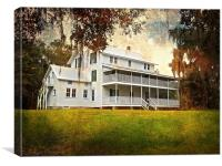 Thursby House at Blue Springs, Canvas Print