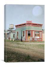 Vintage Bank, Canvas Print