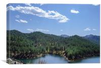 Rocky Mountain Lake, Canvas Print