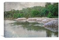 Racoon River in Iowa, Canvas Print