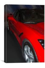 Red Corvette, Canvas Print