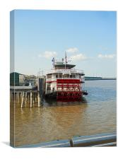 Mississippi River Boat in NOLA, Canvas Print