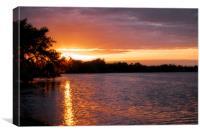 Sunset at Franklin Locks, Canvas Print