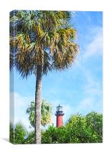 Jupiter Lighthouse, Canvas Print