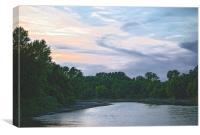 Sundown on the Racoon River, Canvas Print