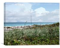 Across the Dunes at Hobe Sound, Canvas Print