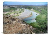 Above the Rio Grande, Canvas Print