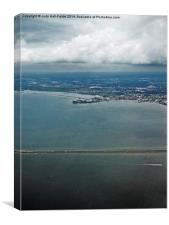 High Above Tampa Bay, Canvas Print