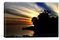Sunset at Bayport Park, Canvas Print