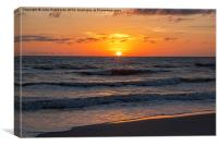 Beautiful Gulf Sunset, Canvas Print
