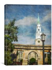 Historic Savannah Church, Canvas Print
