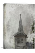 Vintage Church, Canvas Print