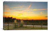 Country Sundown, Canvas Print