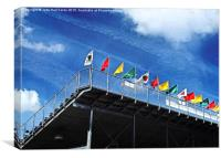 Festival Flags, Canvas Print