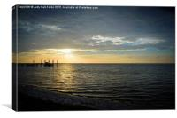 Another Day Dawning in Carrabelle Florida, Canvas Print