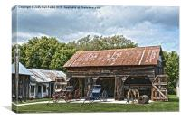 Coldwater Creek Vintage Carriage House, Canvas Print