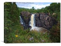 High Falls Surrounded by Nature, Canvas Print