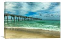 Fishing Pier, Canvas Print