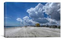 Looking Toward Daytona Beach Shores, Canvas Print