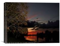 Sunset Over the Caloosahatchee, Canvas Print