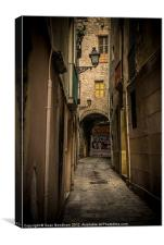 Barri Gotic Barcelona, Canvas Print