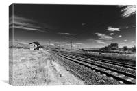 Lonely Railway Station, Canvas Print
