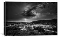 Lightning Strike (mono), Canvas Print