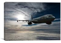 Voyager refuelling jet, Canvas Print