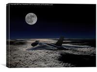 Vulcan at night, Canvas Print