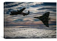 Vulcan and Lancaster, Canvas Print