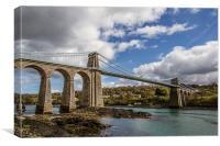 Menai Bridge Anglesey, Canvas Print