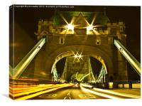 London Bridge by Night, Canvas Print