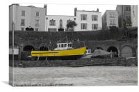 Yellow Fishing Boat, Canvas Print