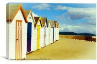 Devon Beach Huts, Canvas Print