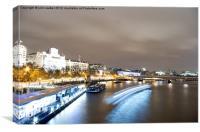River Thames, London, Canvas Print