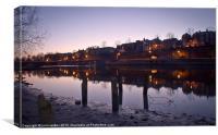 Shoreline River Dee Chester, Canvas Print