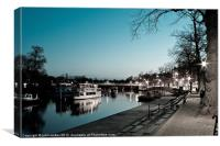 River Dee by Night, Canvas Print