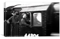 Train Drivers, Canvas Print